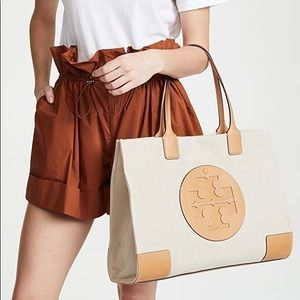 Tory Burch Ella Tote Natural Tan